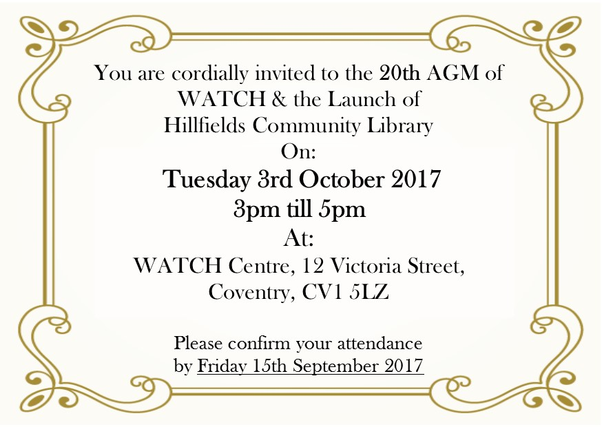 Library Launch & WATCH 20th AGM