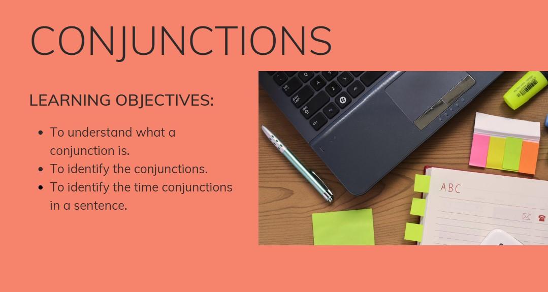 ESOL Conjunctions