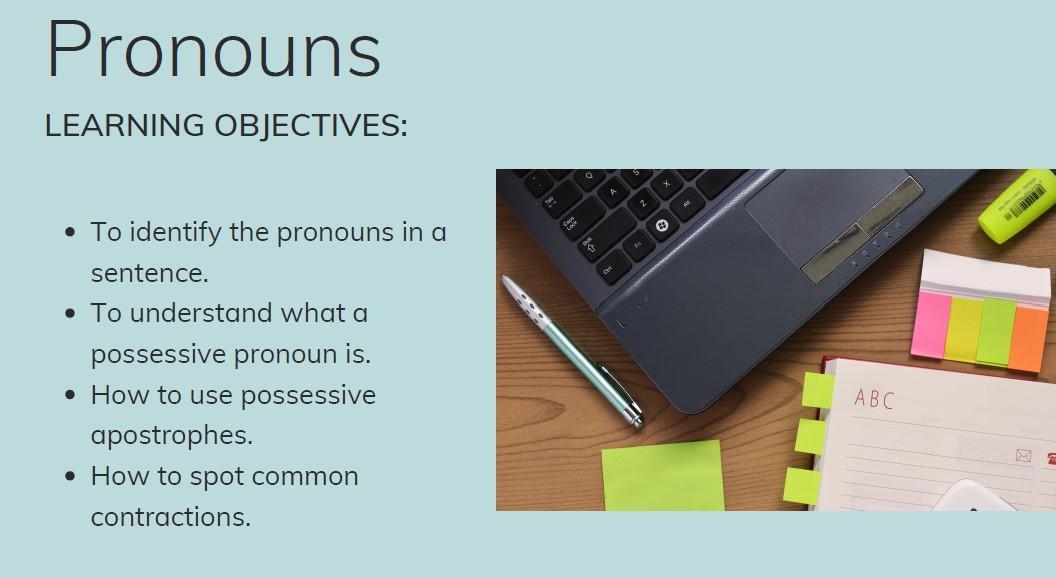 ESOL Pronouns