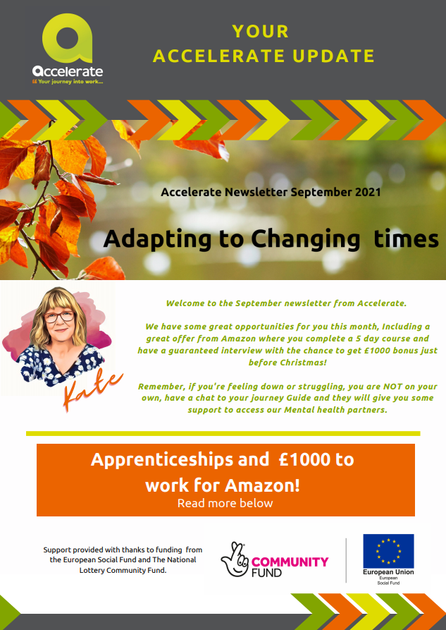 Accelerate Newsletter September 2021 – Adapting To Changing Times